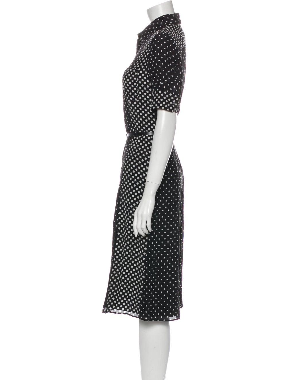 Altuzarra Silk Midi Length Dress Black - image 2