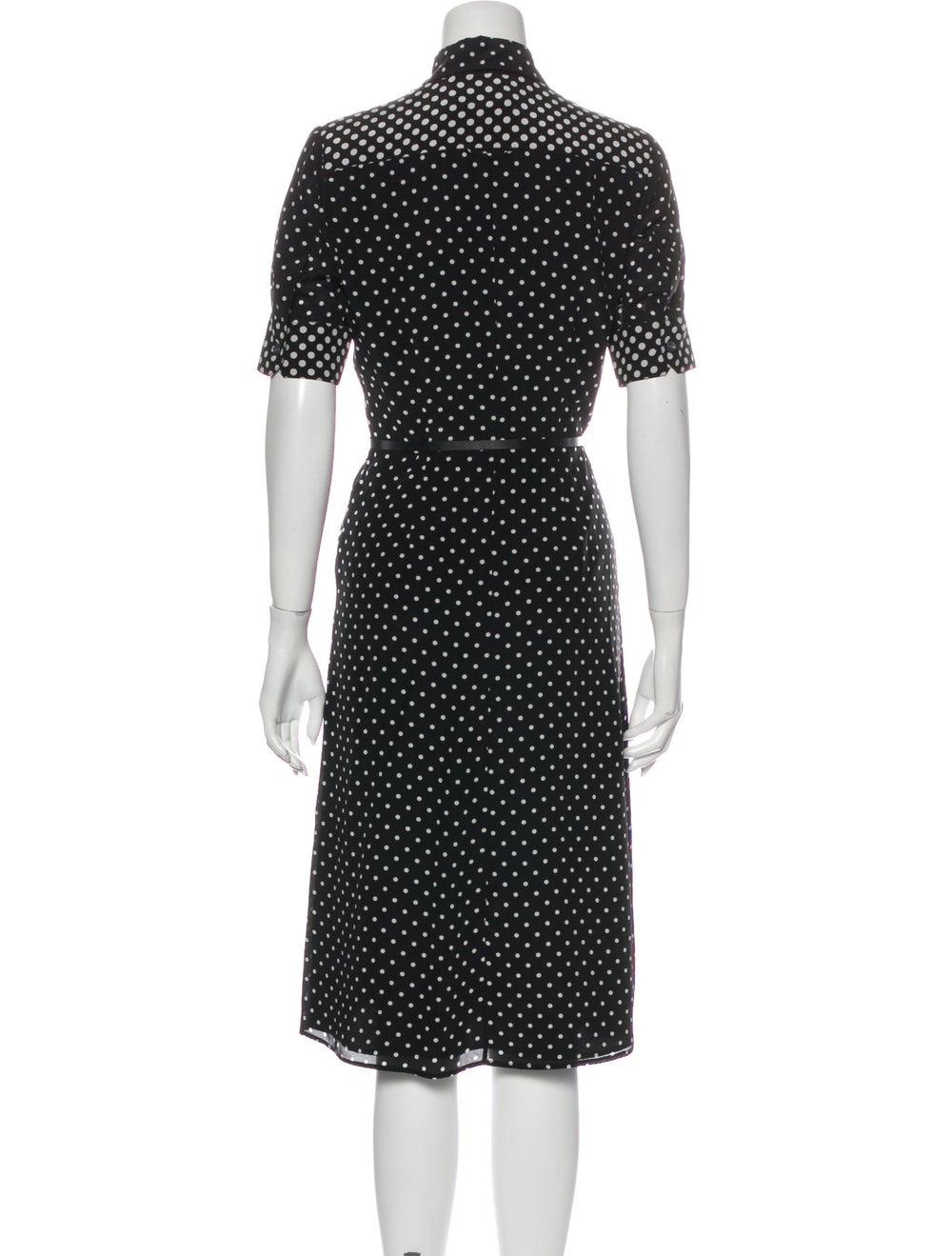 Altuzarra Silk Midi Length Dress Black - image 3