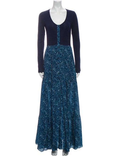 Altuzarra Silk Long Dress Blue