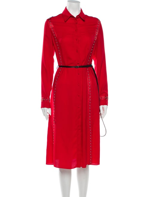 Altuzarra Midi Length Dress Red - image 1