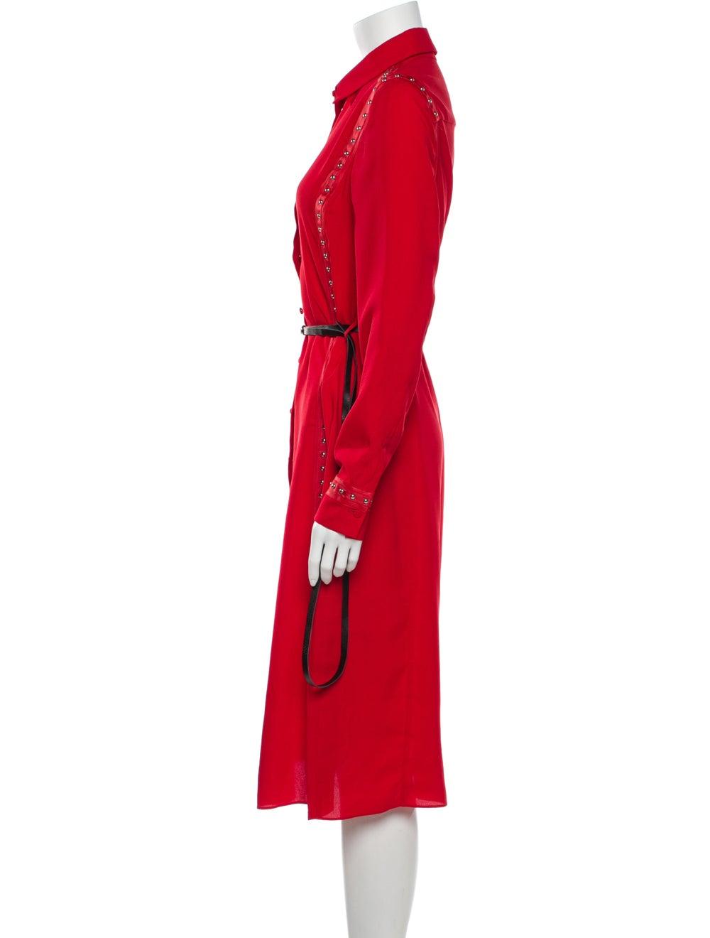 Altuzarra Midi Length Dress Red - image 2