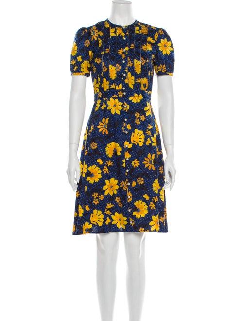 Altuzarra Silk Knee-Length Dress Blue