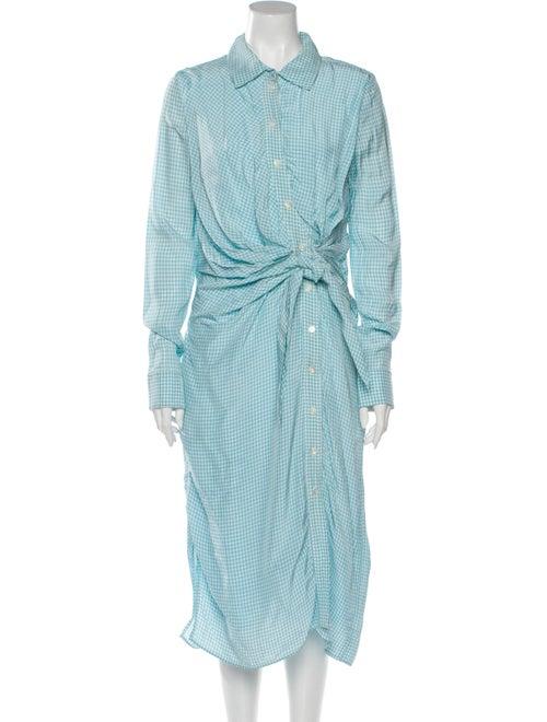 Altuzarra Midi Length Dress Blue - image 1