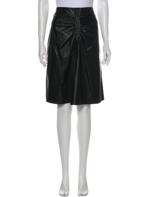 Altuzarra Leather Knee-Length Skirt Black