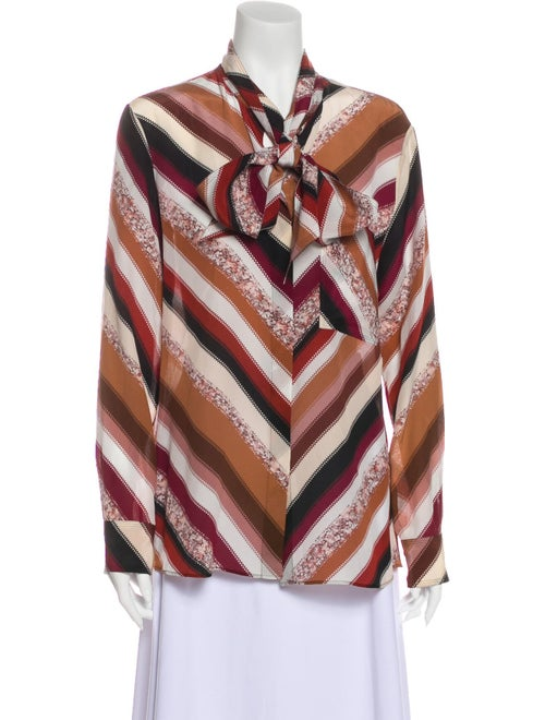 Altuzarra Silk Striped Button-Up Top