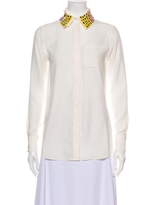Altuzarra Long Sleeve Button-Up Top