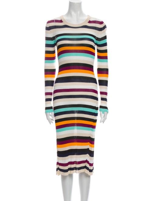 Altuzarra Striped Midi Length Dress - image 1