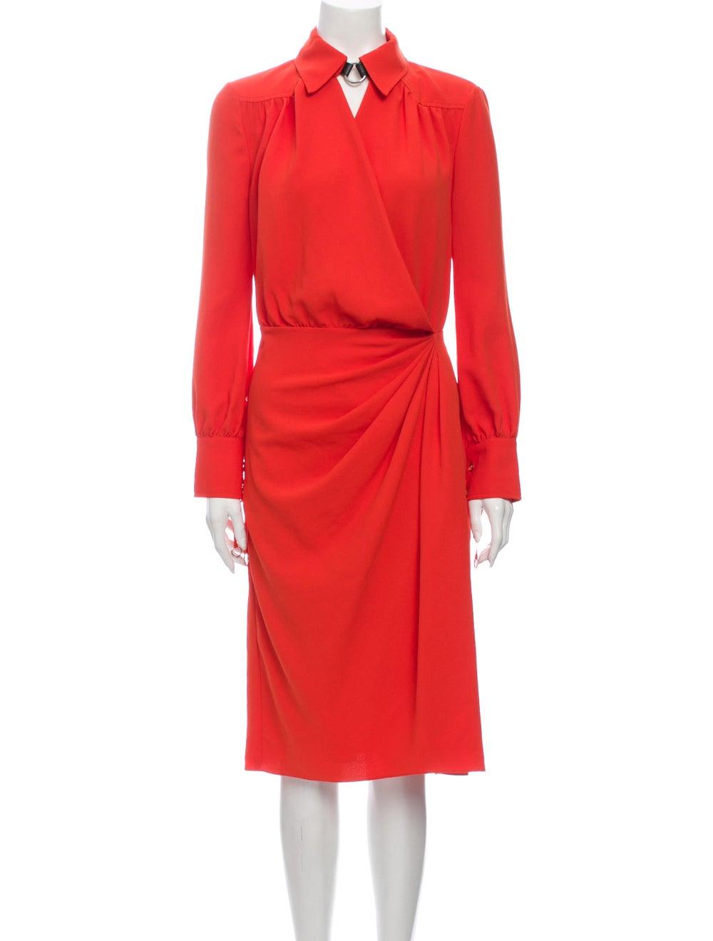 Altuzarra Midi Length Dress Orange - image 1