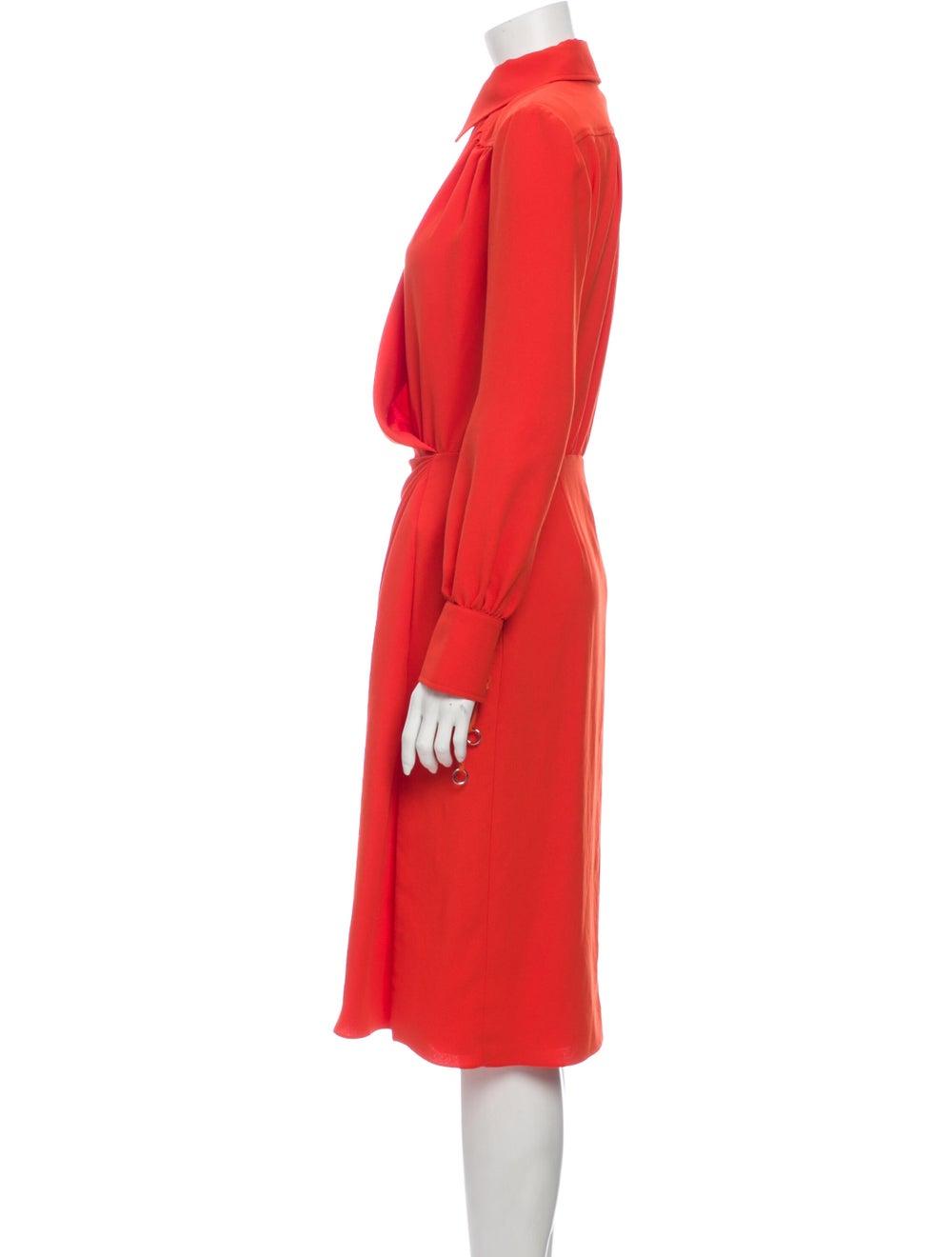 Altuzarra Midi Length Dress Orange - image 2