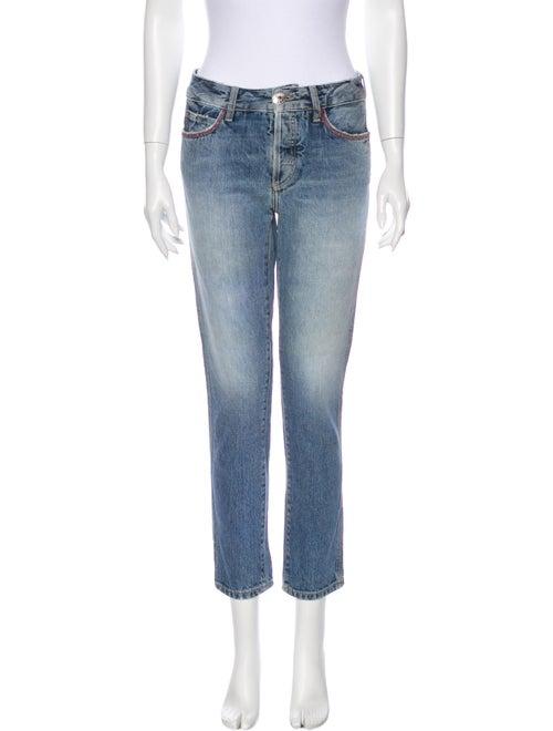 Alanui Mid-Rise Straight Leg Jeans Blue