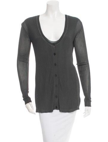 Alexander Wang Long Sleeve Knit Top None