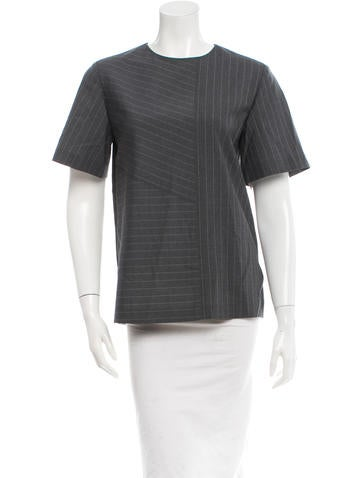 Alexander Wang Wool Pinstriped Top w/ Tags None