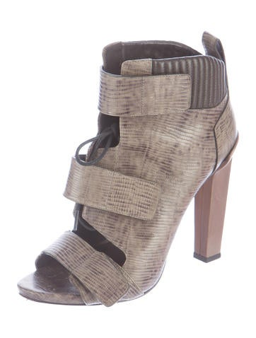 Embossed Noemi Ankle Boots