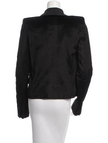 Velvet Shawl Collar Blazer