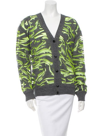 Alexander Wang Wool Mesh-Accented Cardigan None