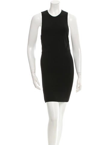 Alexander Wang Sleeveless Rib Knit Mini Dress None