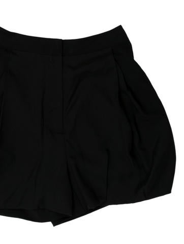 Silk Pleated Shorts