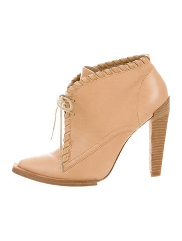 Alexander Wang Leather Pointed-Toe Booties None