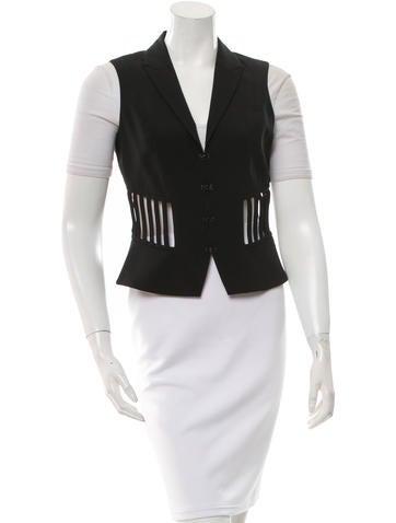 Alexander Wang Virgin Wool Cutout Vest None