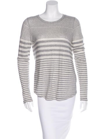 Alexander Wang Striped Long Sleeve Top None