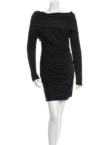 Alexander Wang Long Sleeve Ruched-Accented Dress None