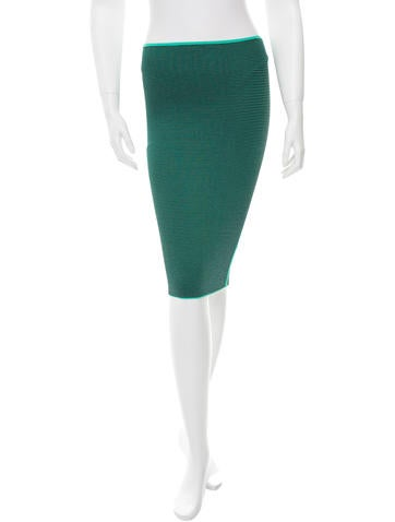 Alexander Wang Strriped Pencil Skirt