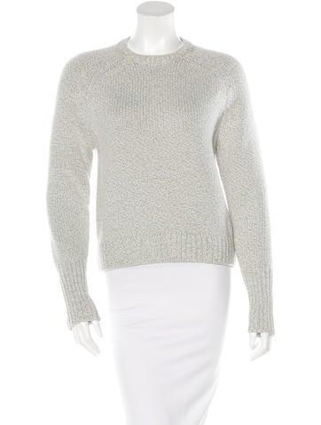 Alexander Wang Rib Knit Crew Neck Sweater None