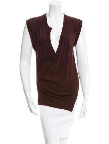 Alexander Wang Wool Knit Wrap Top None
