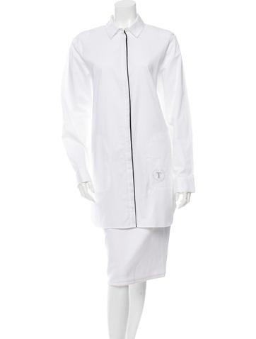 Alexander Wang Long Sleeve Mini Shirtdress None