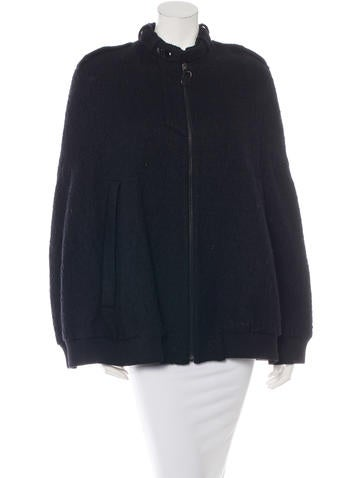 Alexander Wang Textured Wool Cape None