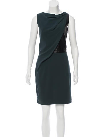 Alexander Wang Leather-Accented Sheath Dress None