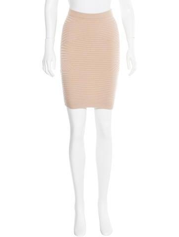 Alexander Wang Wool Rib Knit Skirt None