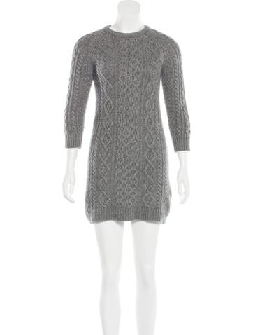 Alexander Wang Cashmere Cable Knit Dress None