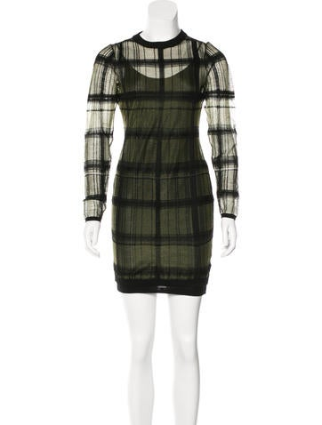 Alexander Wang Plaid Bodycon Dress None