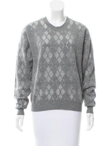 Alexander Wang Argyle Crew neck Sweater None