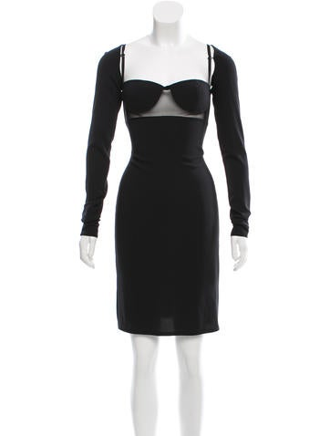 Alexander Wang Mesh Bodycon Dress None