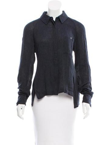 Alexander Wang Long Sleeve Button-Up Top None
