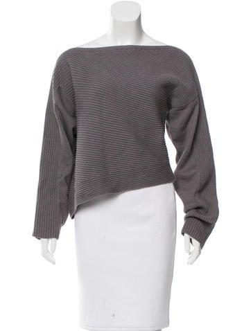 Alexander Wang Asymmetrical Rib Knit Sweater None