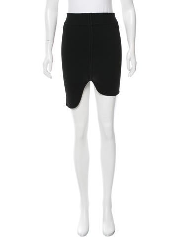 Alexander Wang High-Low Bodycon Skirt None