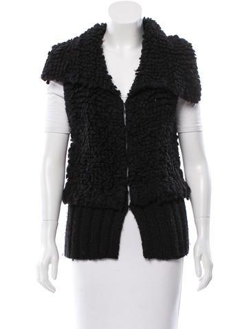 Alexander Wang Bouclé Oversize Collar Vest None