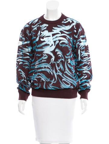 Alexander Wang Mesh-Paneled Wool Sweater None