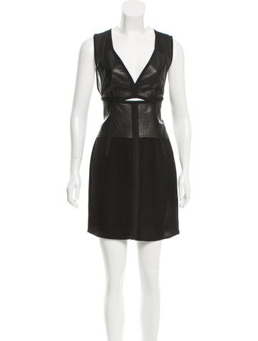 Alexander Wang Leather-Accented Cutout Dress None