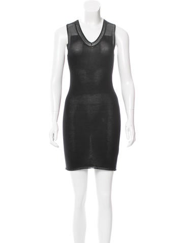 Alexander Wang Sleeveless Rib Knit Dress None