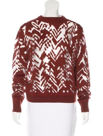 Alexander Wang Chevron-Patterned Wool Sweater None