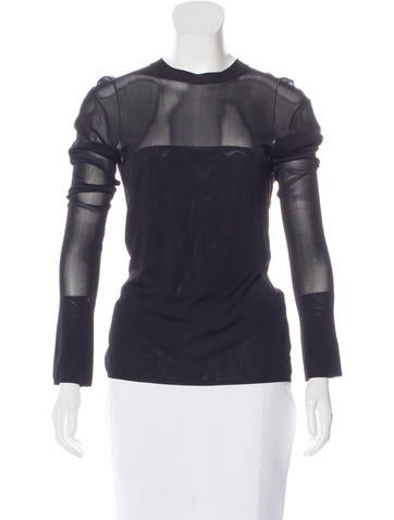Alexander Wang Long Sleeve Knit Top None