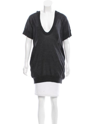Alexander Wang Hooded Wool Tunic None