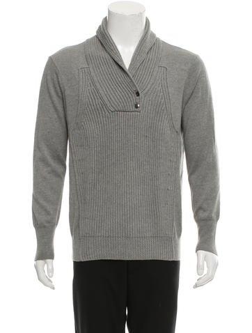 Alexander Wang Shawl Collar Wool Sweater None