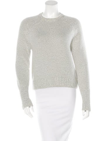 Alexander Wang Rib Knit Crew Neck Sweater None