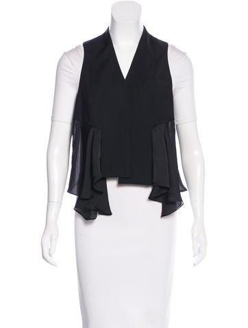 Alexander Wang Wool Asymmetrical Vest None