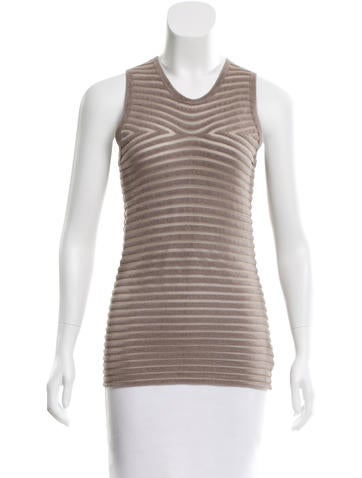 Alexander Wang Textured Sleeveless Top None